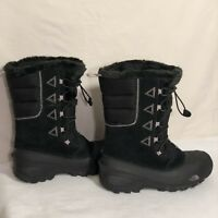 Sz: 6 The North Face Youth Shlista Cinch Front Fleece Trimmed Waterproof Boots