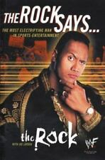 The Rock Says 2000 autobiography hardcover DJ  Dwayne The Rock Johnson WWE WWF
