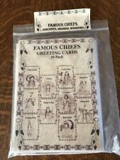 Famous Chiefs Greeting Cards 10 Pack, Indian, Shaman, Warriors, Subchiefs