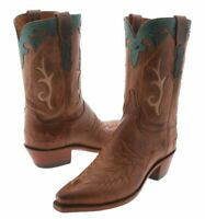 Women's 1883 By Lucchese Western Boots N4620 Black mad dog goat leather size 7