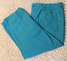 Women's Capri Pants Cropped Size 14 Coldwater Creek Teal P2