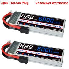 2xHRB 11.1V 3S 6000mAh RC Lipo Battery 50C-100C Traxxas For Slash 4x4 Car Truck