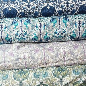 "William Morris Lodden Print on Lawn Cotton Fabric, 56"" wide, 5 colours-per 0.5m"