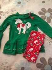 Girls Size 6 Bumble And Birdie Unicorn Christmas Outfit