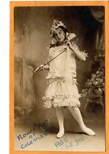 Studio Real Photo Postcard RPPC - Girl with Floral Crown and Dress - Flower Hop