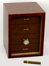 Humidor Schrank Angelo Cabinet braun ca 120 Zigarren Acrylpolymere-Befeuchter