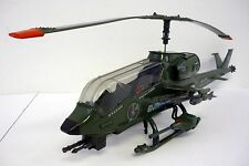 GI JOE DRAGONFLY Vintage Vehicle Helicopter COMPLETE w/WILD BILL & WORKS 1983