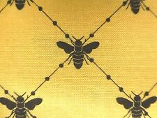 Abeilles Fabric Cotton Craft Quilting Jaune Noir Bee Diamond-par le mètre