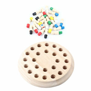Children Educational Wooden Memory Game Match Stick Chess Game Baby Toy Learning