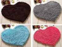 Heart Shape Soft Shaggy Water-proof Mat Floor Carpet For Bathroom Door Rug
