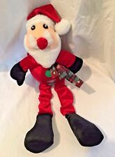 Vo Toys Big Belly Longlegged Santa Dog Toy Puppy Christmas Squeaks Holiday