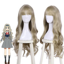 "DARLING in the FRANXX 556 KOKORO Ash Blonde Cosplay Wig 35"" Long Wavy Bangs Wigs"