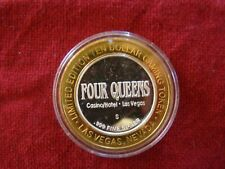 Four Queens Casino Las Vegas Limited Ed. $10 Gaming Token .999 Silver 24K Gold