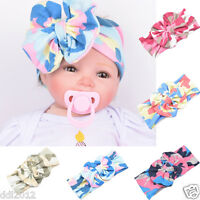 Baby Infant Kids Girls Bowknot Hairband Cotton Turban Bowknot Headwrap Hairband