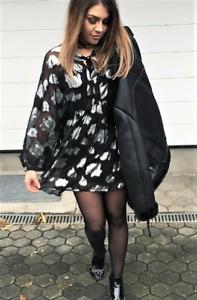 ZARA NEW BLACK voluminous DRESS SIZE XS