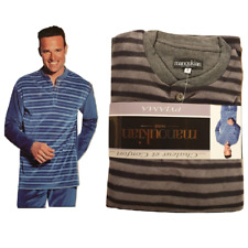 Pyjama homme confort et chaleur col rond avec bouton Manoukian Paris