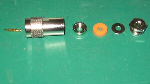 ONE N-type Plug Male PLUG Clamp Type COAX MINI 8  TOP QUALITY HF VHF UHF 7- 8 MM