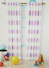 "2 Pillowfort Lavender Stripe Blackout Curtain Panels 42"" W x 84"" L (1 pair) NIP"