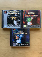 Command And Conquer 3x Game Bundle Red Alert Retaliation - Sony Playstation PS1
