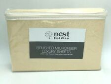 NEW Nest Bedding Twin XL Sand Tan Brushed Microfiber Luxury Sheet Set