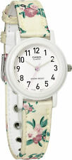 Details about  Casio LQ139LB-7B2 Ladies Analog Watch White Floral Design Cloth