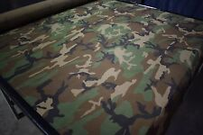 "400D WOODLANDS CAMO 60""W PACK CLOTH FABRIC OUTDOOR WATER REPELLENT DWR"