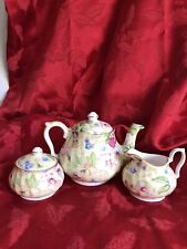 Royal Victorian Fine Bone China Yellow Floral Miniature Tea Set