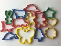 Lot Of 13 Mixed Plastic Cookie Cutters