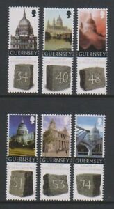 Guernsey - 2008, Granite St Paul's Cathedral set - MNH - SG 1248/53