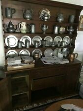 Large antique pewter cupboard