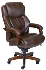 Office Desk Computer Chair Executive Bonded Leather Big Tall Brown High Back New