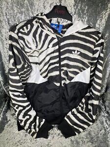 Adidas Originals Colorado Windbreaker Zebra Print Jacket Size 10