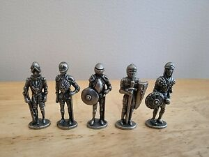 5 Mini Pewter Soldiers