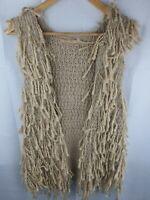 Cooper St Beige Angora Wool Vest Womans Size S