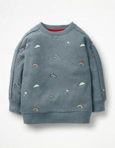 Ex Mini Boden BNWOT Rainbow Embroidered Sweatshirt