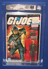 "GI Joe Grunt 3.75"" Action Figure 1982 MOC AFA 80 NM Straight Arm 11 Back Series1"