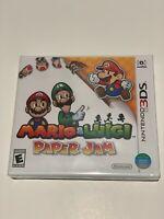 NEW Mario & and Luigi: Paper Jam Bros. (Nintendo 3DS, 2016) World Edition