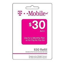 T-Mobile $30 Refill -- Loaded directly