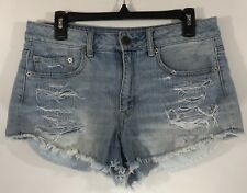 AMERICAN EAGLE OUTFITTERS Womens Distressed Hi-Rise Festival Denim Jean Shorts 8