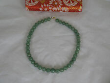 """Old Chinese 18"""" Jade Necklace with an 18K Gold Catch"""