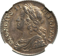 Great Britain 1739 George II Silver Shilling NGC AU-58
