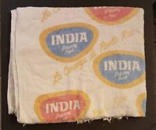 Vintage Beach Towel / Cerveza India / Puerto Rico 1960's Rare