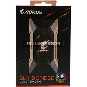 GIGABYTE AORUS SLI HB bridge RGB 2 Slot PCI-E Spacing Supports Dual Link SLI HB