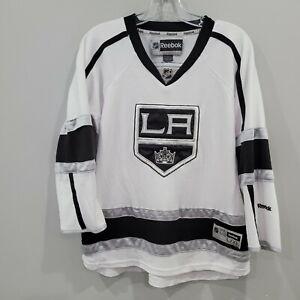Reebok Premier NHL Los Angeles Kings White Hockey Jersey Youth L XL Sewn