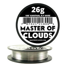 100 ft - 26 Gauge AWG A1 Kanthal Round Wire 0.40mm Resistance A-1 26g GA 100'