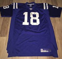 PEYTON MANNING AUTHENTIC INDIANAPOLIS COLTS NFL JERSEY BLUE REEBOK STITCHED 18