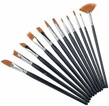 X 12 Pack Of Long Wooden Paint Brushes  - By TRIXES