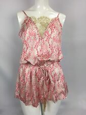 Beach Bunny Damascus Seas Romper Size Large White Pink NWT Cover-Up