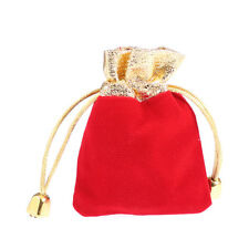 10pcs red velvet gold Pouch Wedding birthday party Jewelry Gift Bag 7*9cm