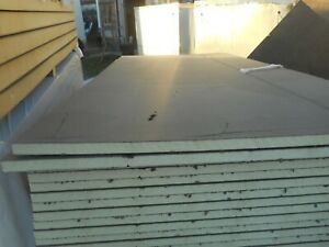 4' x 3' Polyiso insulation board TAPPERED /4' X 8' SHEETS VARIES THICKNESS/NEW
